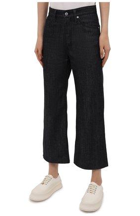 Женские джинсы JIL SANDER темно-синего цвета, арт. JPPS663135-WS246700 | Фото 3