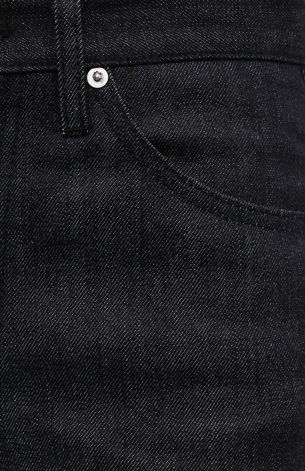 Женские джинсы JIL SANDER темно-синего цвета, арт. JPPS663135-WS246700 | Фото 5