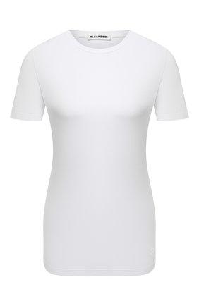 Женская хлопковая футболка JIL SANDER белого цвета, арт. JPPS705502-WS257108 | Фото 1