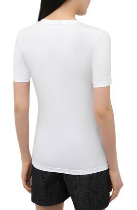 Женская хлопковая футболка JIL SANDER белого цвета, арт. JPPS705502-WS257108 | Фото 4