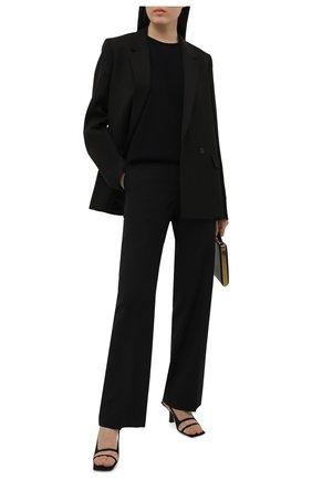 Женские шерстяные брюки JIL SANDER черного цвета, арт. JSWS307410-WS211600 | Фото 2