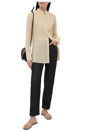 Женская рубашка JIL SANDER бежевого цвета, арт. JSWS606806-WS551000 | Фото 2