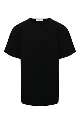 Женская футболка из вискозы JIL SANDER черного цвета, арт. JSWS754323-WSY39208 | Фото 1