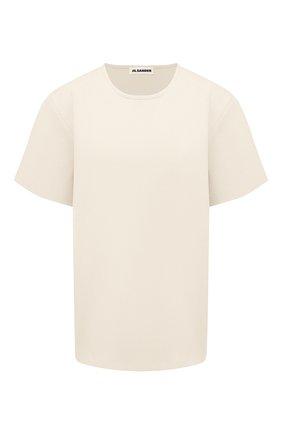 Женская футболка из вискозы JIL SANDER кремвого цвета, арт. JSWS754323-WSY39208 | Фото 1