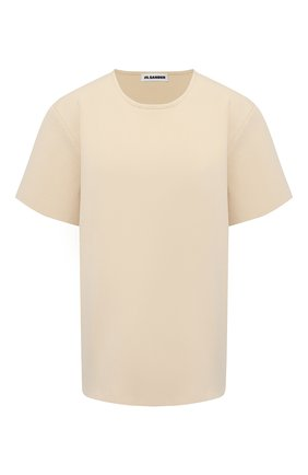 Женская футболка из вискозы JIL SANDER бежевого цвета, арт. JSWS754323-WSY39208 | Фото 1