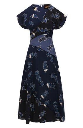 Женское платье из вискозы loewe x paula's ibiza LOEWE синего цвета, арт. S616Y09X06 | Фото 1 (Женское Кросс-КТ: Платье-одежда; Длина Ж (юбки, платья, шорты): Миди; Случай: Повседневный)