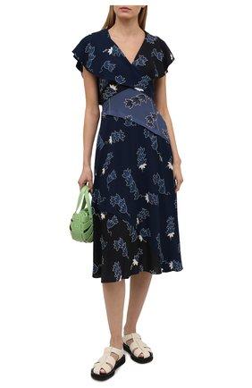 Женское платье из вискозы loewe x paula's ibiza LOEWE синего цвета, арт. S616Y09X06 | Фото 2 (Женское Кросс-КТ: Платье-одежда; Длина Ж (юбки, платья, шорты): Миди; Случай: Повседневный)