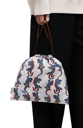 Женский клатч drawstring small loewe x paula's ibiza LOEWE разноцветного цвета, арт. C822057X06 | Фото 2 (Размер: small; Женское Кросс-КТ: Клатч-клатчи; Материал: Текстиль)