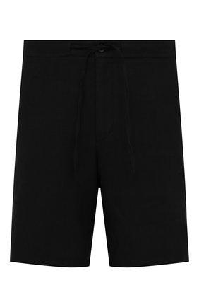 Мужские льняные шорты RALPH LAUREN черного цвета, арт. 790532451 | Фото 1 (Принт: Без принта; Материал внешний: Лен; Длина Шорты М: До колена; Стили: Кэжуэл; Мужское Кросс-КТ: Шорты-одежда)
