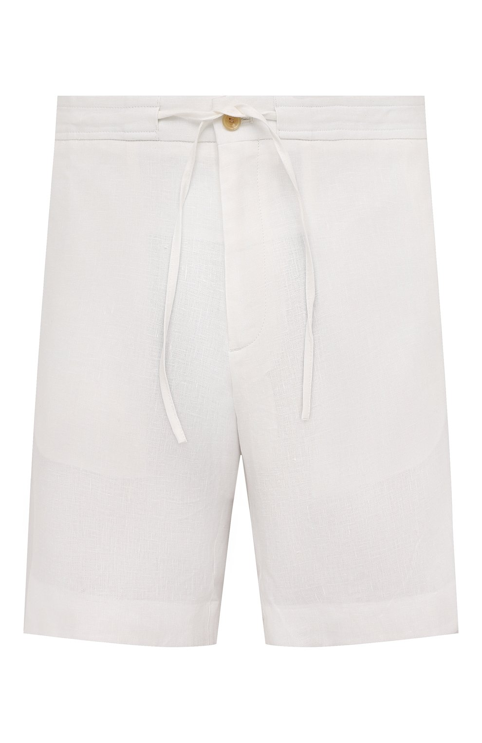 Мужские льняные шорты RALPH LAUREN белого цвета, арт. 790532451   Фото 1