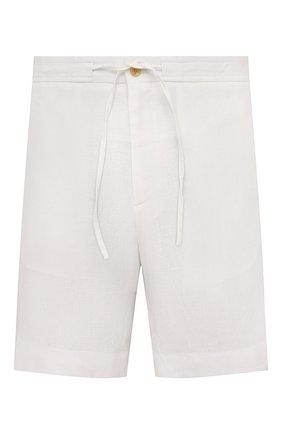 Мужские льняные шорты RALPH LAUREN белого цвета, арт. 790532451 | Фото 1