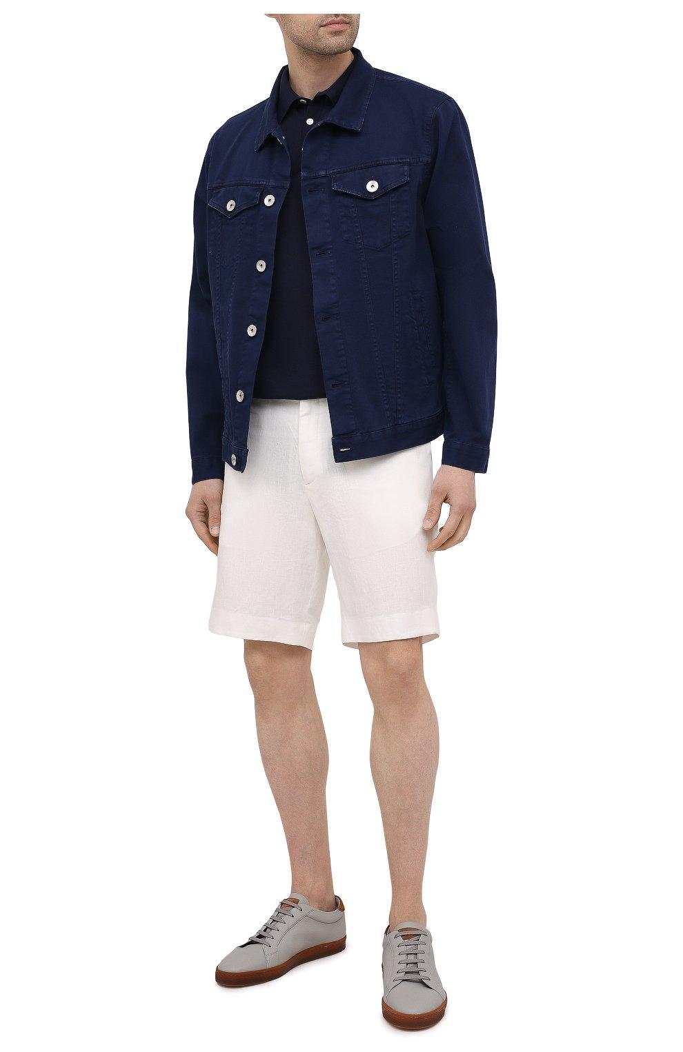 Мужские льняные шорты RALPH LAUREN белого цвета, арт. 790532451   Фото 2