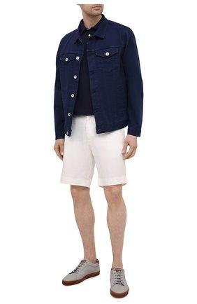 Мужские льняные шорты RALPH LAUREN белого цвета, арт. 790532451 | Фото 2