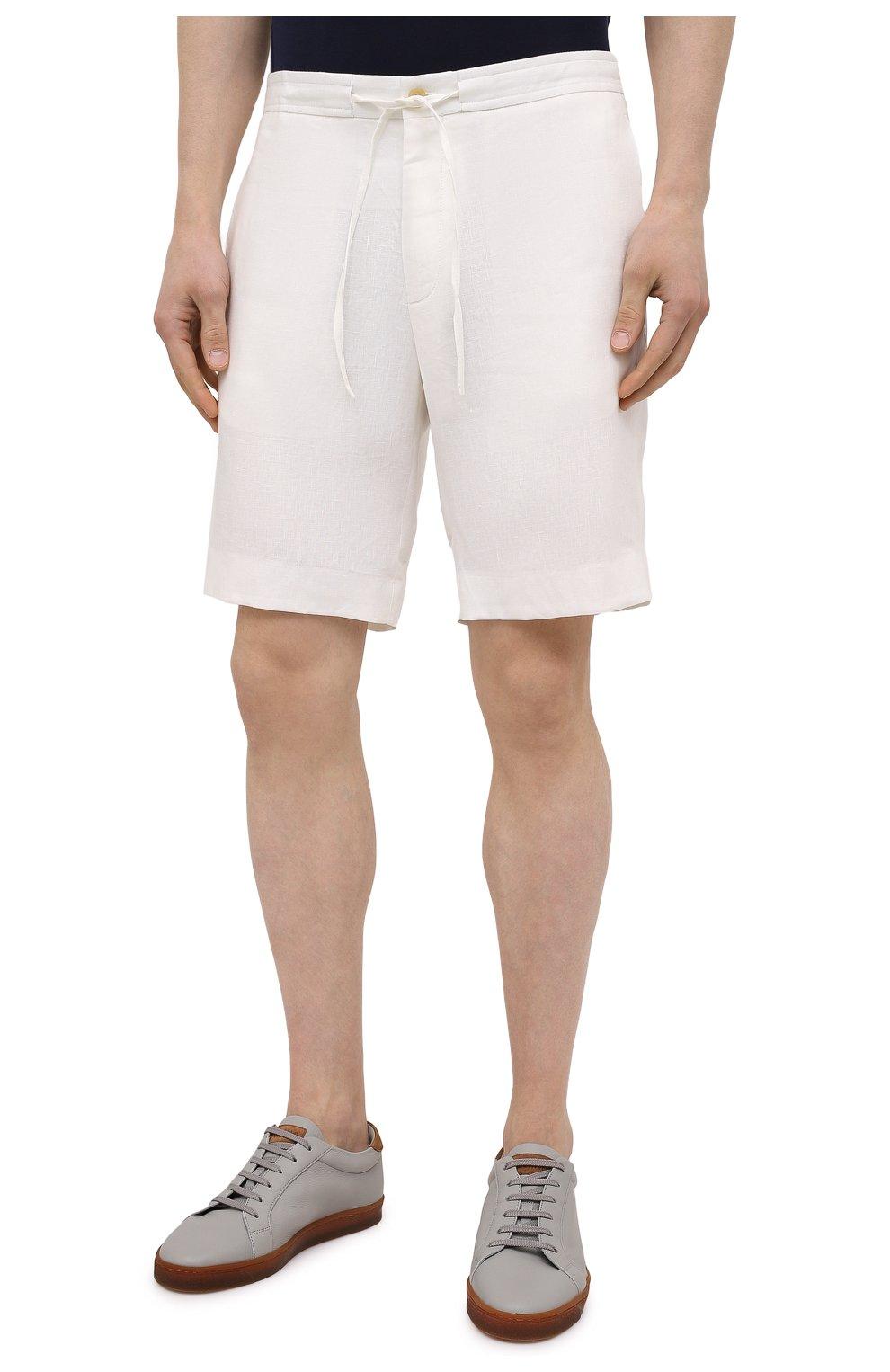 Мужские льняные шорты RALPH LAUREN белого цвета, арт. 790532451   Фото 3