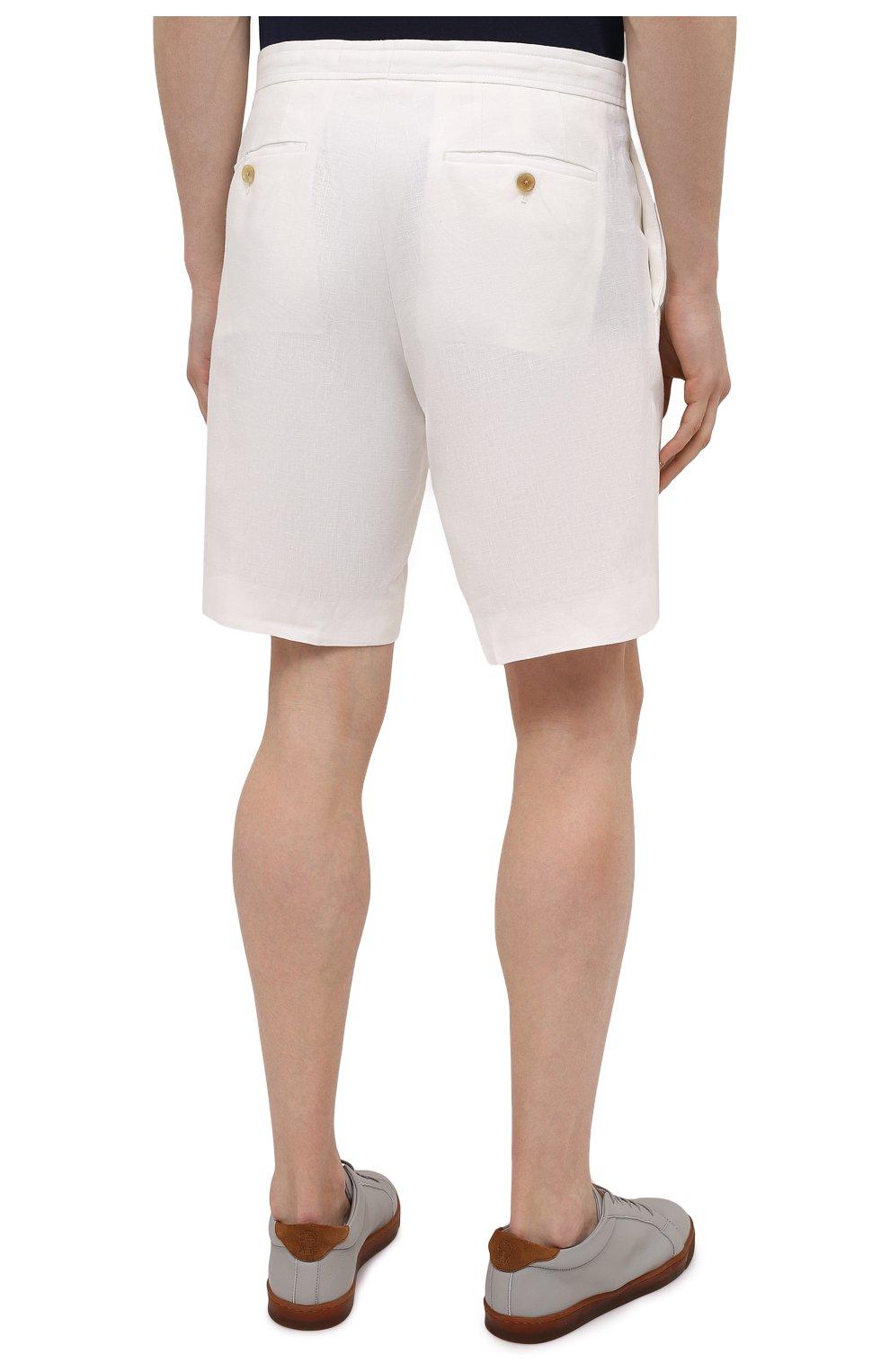 Мужские льняные шорты RALPH LAUREN белого цвета, арт. 790532451   Фото 4