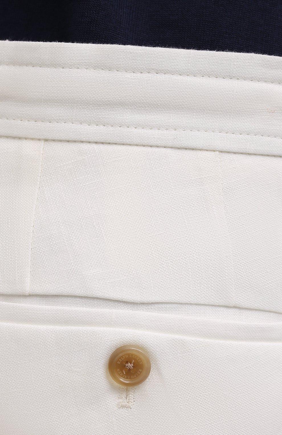Мужские льняные шорты RALPH LAUREN белого цвета, арт. 790532451   Фото 5