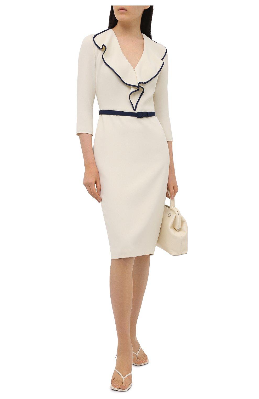 Женское платье RALPH LAUREN светло-бежевого цвета, арт. 290850480 | Фото 2