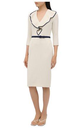 Женское платье RALPH LAUREN светло-бежевого цвета, арт. 290850480 | Фото 3