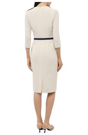 Женское платье RALPH LAUREN светло-бежевого цвета, арт. 290850480 | Фото 4