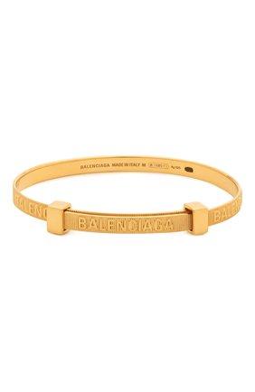Женский браслет force BALENCIAGA золотого цвета, арт. 644508/TZ78V | Фото 1 (Материал: Металл)