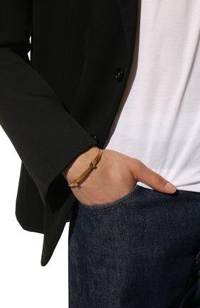 Женский браслет force BALENCIAGA золотого цвета, арт. 644508/TZ78V | Фото 2 (Материал: Металл)
