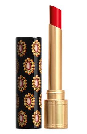 Губная помада rouge de beauté brillant, 25 goldie red GUCCI бесцветного цвета, арт. 3614228844857 | Фото 1