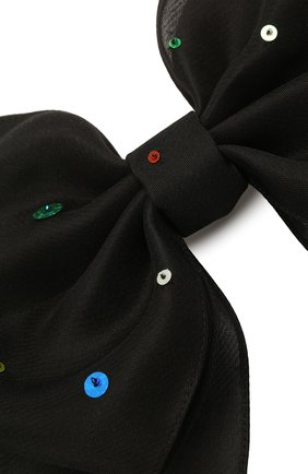 Женская бант PANFIL черного цвета, арт. Бант 0-X3-Seq | Фото 3 (Материал: Шелк)
