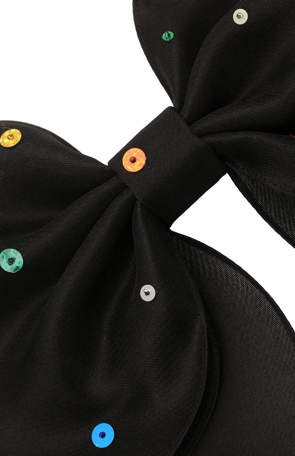 Женская бант PANFIL черного цвета, арт. Бант 0-X2-Seq   Фото 3 (Материал: Шелк)