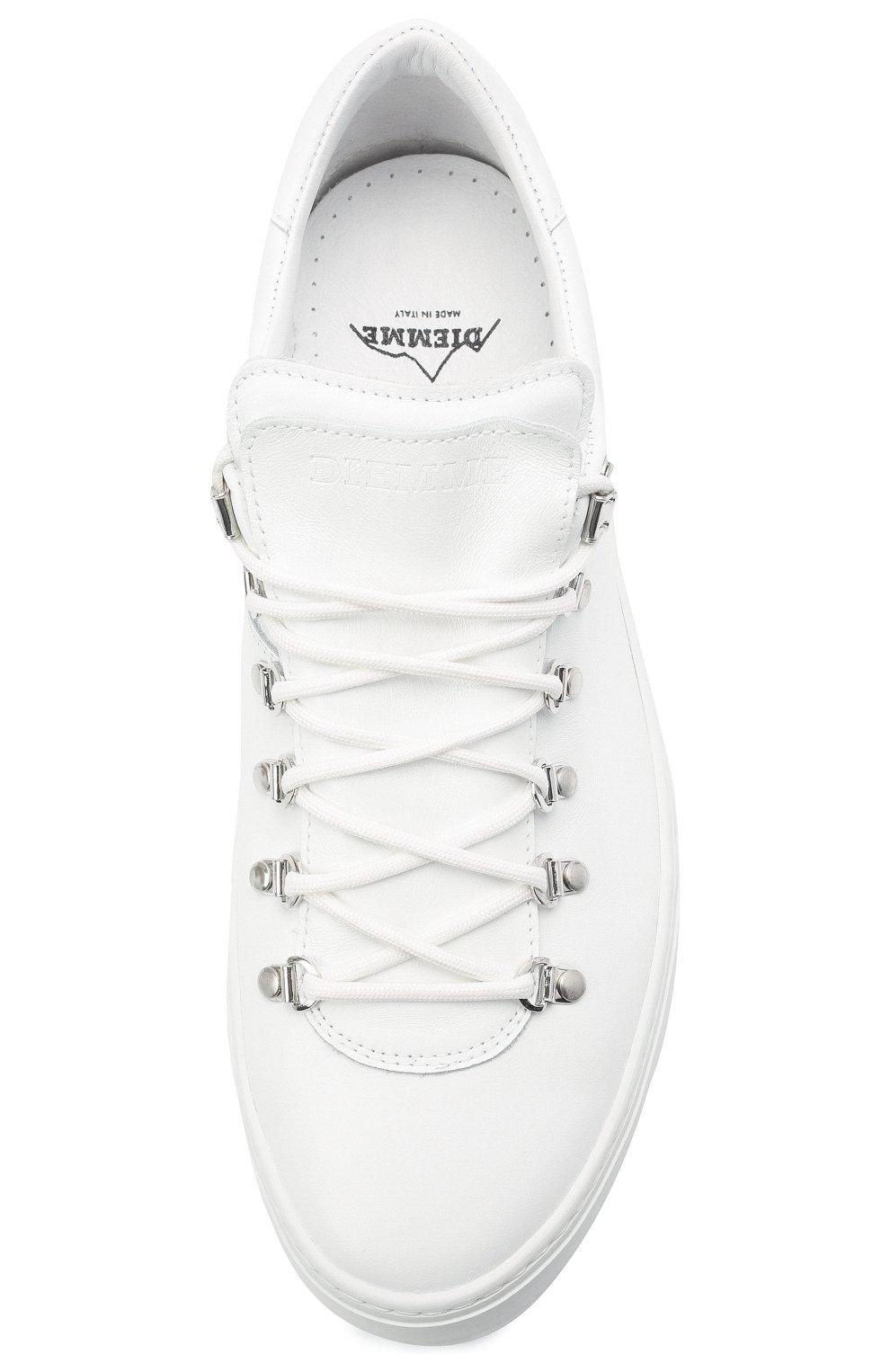 Мужские кожаные кеды DIEMME белого цвета, арт. DI2001ML02 Marostica Low   Фото 5 (Материал внутренний: Натуральная кожа; Подошва: Массивная)