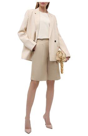 Женские кожаные туфли ALEXANDER MCQUEEN бежевого цвета, арт. 661482/WHV7B   Фото 2