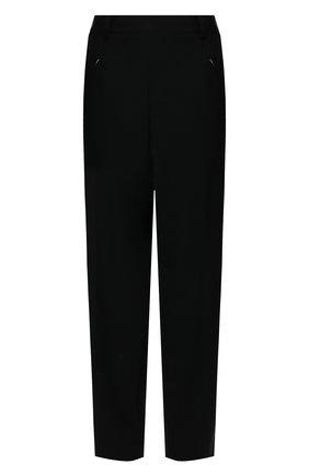 Женские брюки MAISON MARGIELA черного цвета, арт. S51KA0530/S53700   Фото 1 (Силуэт Ж (брюки и джинсы): Прямые; Стили: Кэжуэл; Материал внешний: Шерсть, Синтетический материал; Женское Кросс-КТ: Брюки-одежда; Длина (брюки, джинсы): Укороченные)