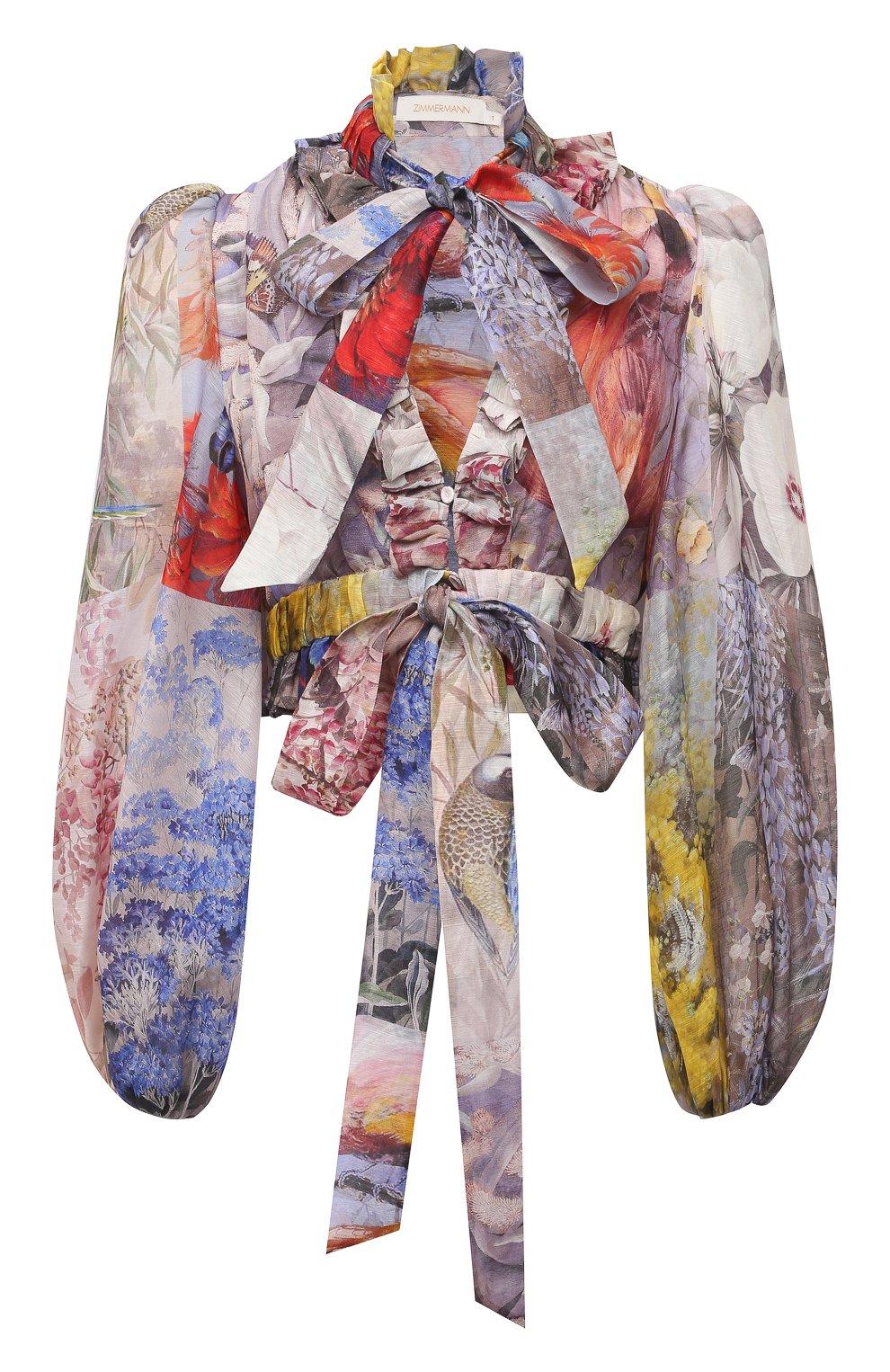 Женская льняная блузка ZIMMERMANN разноцветного цвета, арт. 1363TB0T | Фото 1