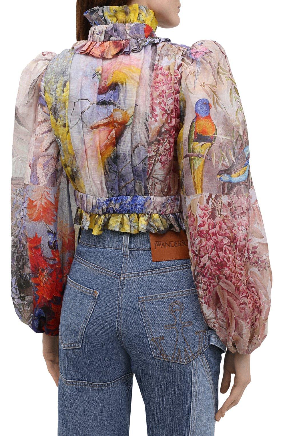 Женская льняная блузка ZIMMERMANN разноцветного цвета, арт. 1363TB0T | Фото 4