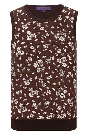 Женский шерстяной топ RALPH LAUREN коричневого цвета, арт. 290840749 | Фото 1