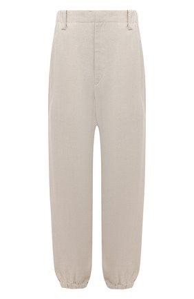 Женские льняные брюки Y`S бежевого цвета, арт. YD-P43-331   Фото 1