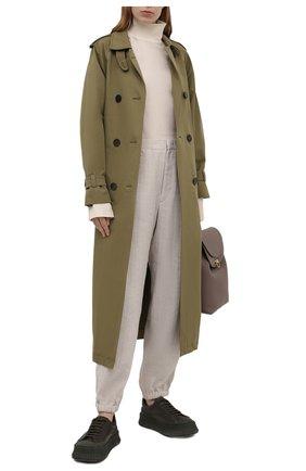 Женские льняные брюки Y`S бежевого цвета, арт. YD-P43-331   Фото 2