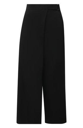 Женские шерстяные брюки YOHJI YAMAMOTO черного цвета, арт. ND-P03-100   Фото 1