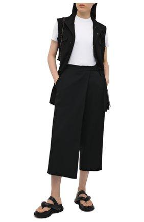 Женские шерстяные брюки YOHJI YAMAMOTO черного цвета, арт. ND-P03-100   Фото 2