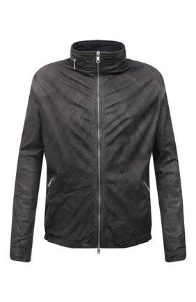 Мужская кожаная куртка GIORGIO BRATO темно-серого цвета, арт. GU21S9686V | Фото 1