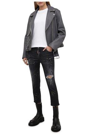 Женские джинсы DSQUARED2 темно-серого цвета, арт. S72LB0404/S30503 | Фото 2
