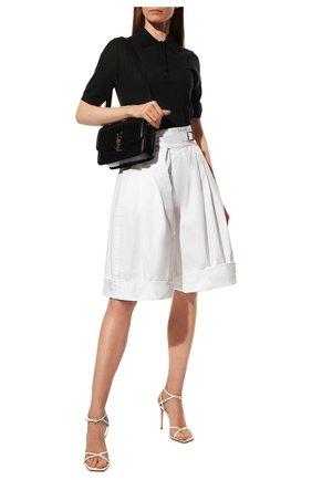 Женские хлопковые шорты DSQUARED2 белого цвета, арт. S72MU0394/S41794 | Фото 2
