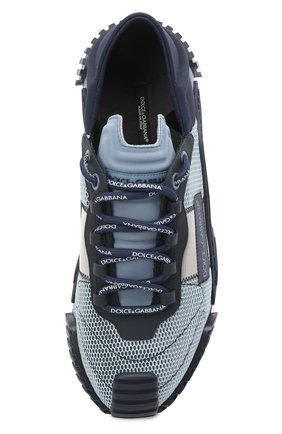 Мужские комбинированные кеды ns1 DOLCE & GABBANA синего цвета, арт. CS1769/A0225 | Фото 5