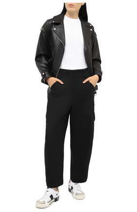 Женские кожаные кеды custom 2.zero DOLCE & GABBANA белого цвета, арт. CK1863/A0222 | Фото 2 (Подошва: Платформа; Материал внутренний: Натуральная кожа)