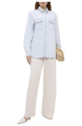 Женская джинсовая рубашка GOLDEN GOOSE DELUXE BRAND голубого цвета, арт. GWP00589.P000408 | Фото 2