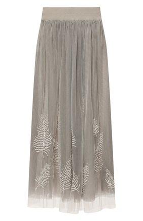 Женская юбка LORENA ANTONIAZZI серого цвета, арт. E2126G0021/3389 | Фото 1
