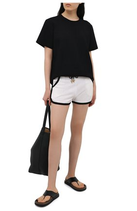 Женские шерстяные шорты BALMAIN черно-белого цвета, арт. VF20A005/K270   Фото 2