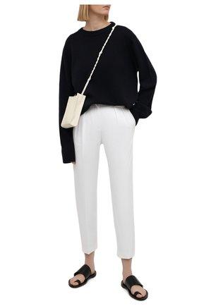 Женские хлопковые брюки REDVALENTINO белого цвета, арт. VR0RBE25/4YN   Фото 2