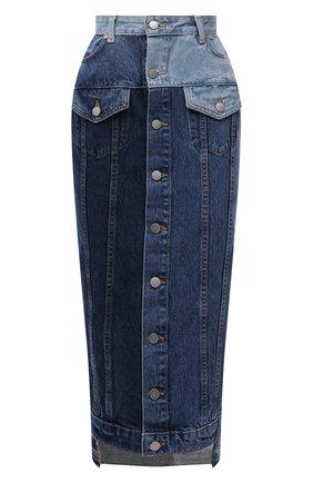 Женская джинсовая юбка REDVALENTINO синего цвета, арт. VR0DD04G/5TT   Фото 1