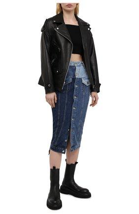 Женская джинсовая юбка REDVALENTINO синего цвета, арт. VR0DD04G/5TT   Фото 2