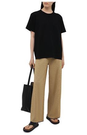 Женские брюки LANVIN золотого цвета, арт. RW-TR0005-K002-E21 | Фото 2